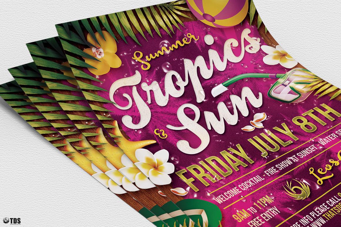 Summer Tropics Flyer Template example image 7