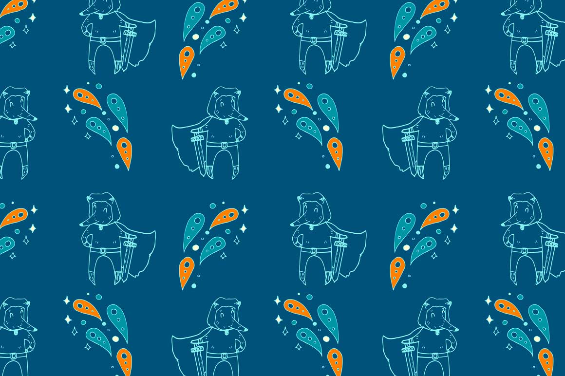 Fox personages and patterns example image 7