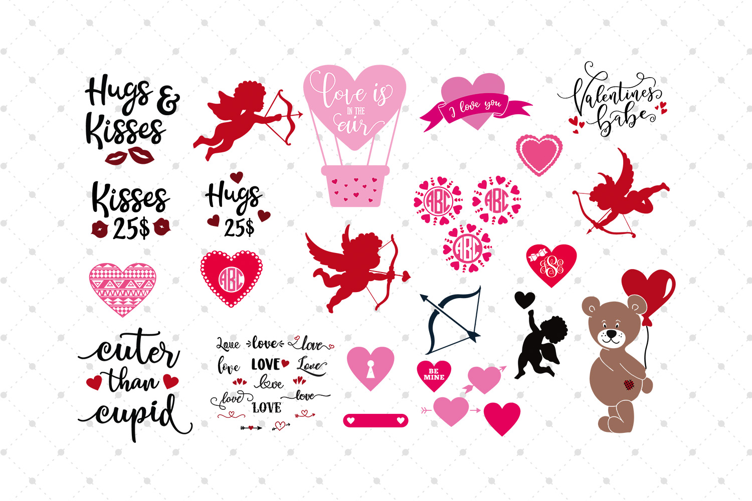 Valentines Day SVG Bundle  example image 3