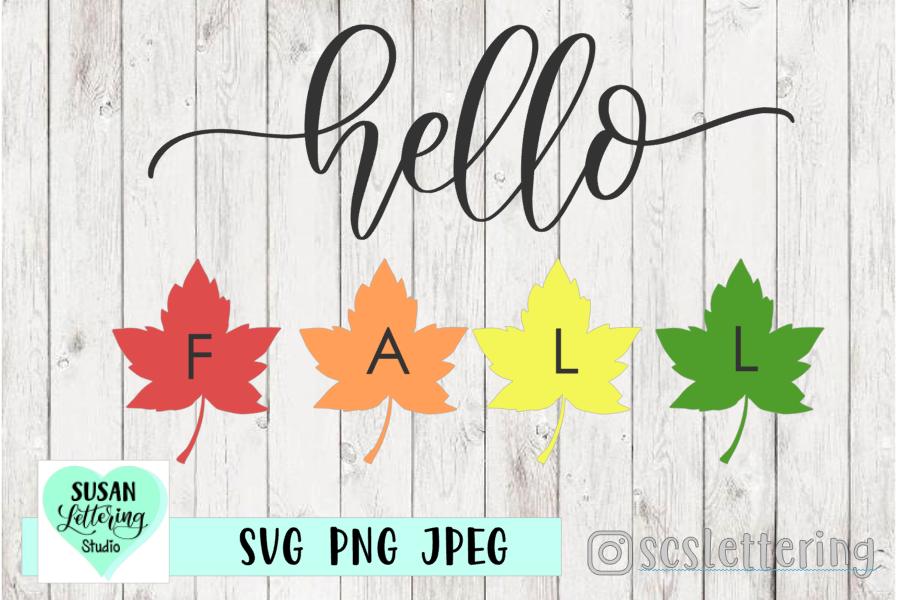 Hello FALL Cut File - SVG, PNG, JPEG example image 1