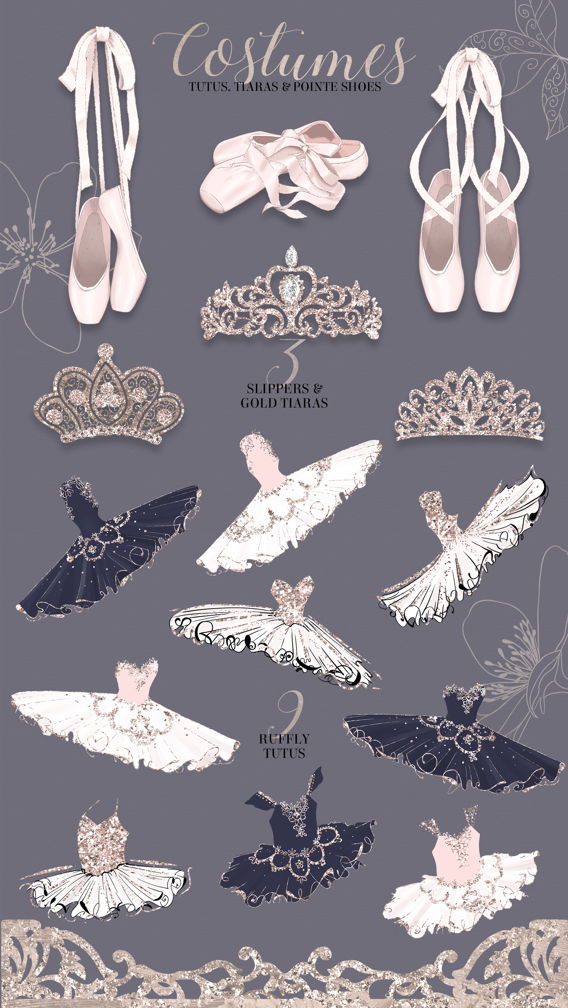 The Grand Ballerina Clipart Collection example image 4