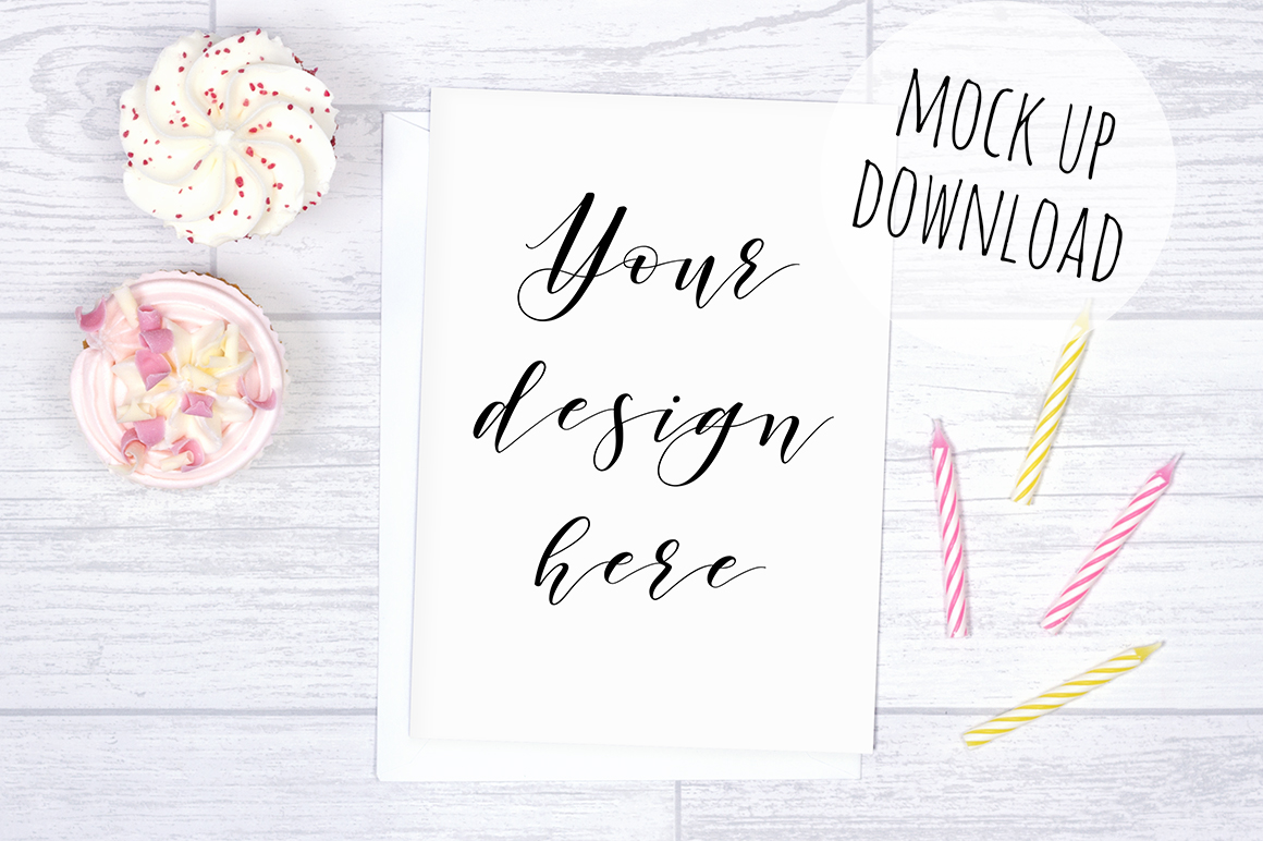 Pretty Card or Invite Mock Up Bundle example image 5