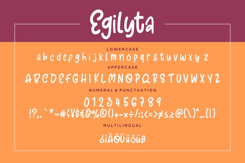 Egilyta A Little Funny Font example image 7