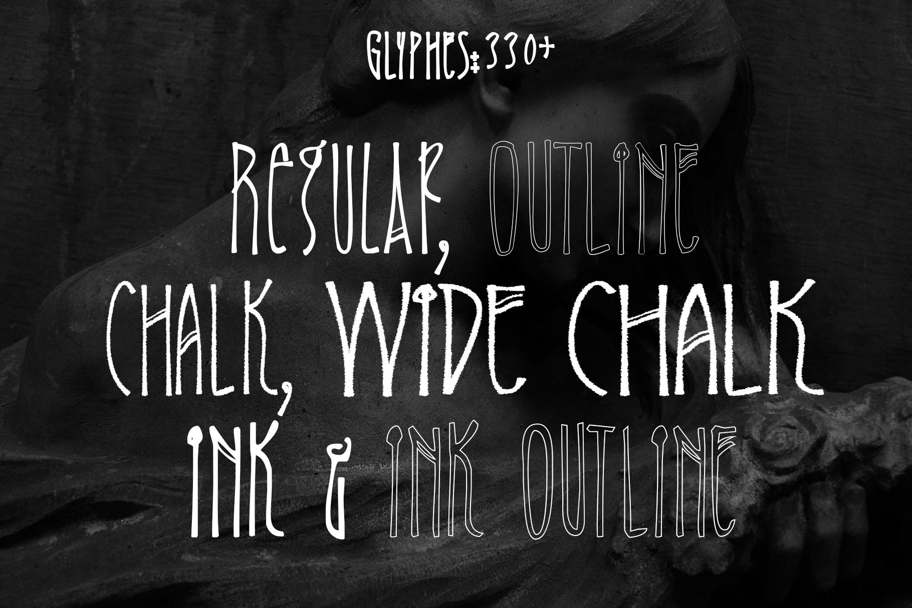 Minervae font family example image 2