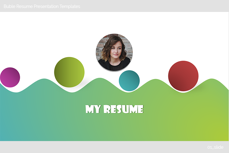 Buble Resume Presentation Templates example image 2