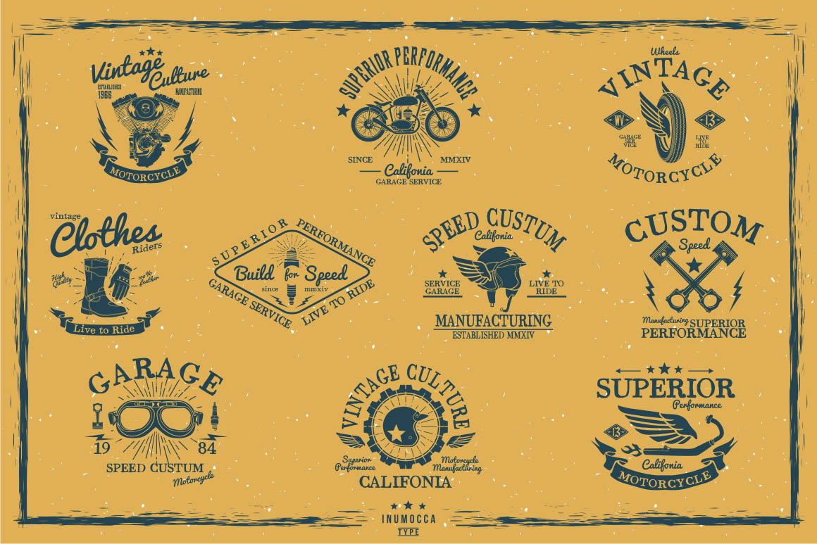 BIG BUNDLE Vintage Badges example image 27