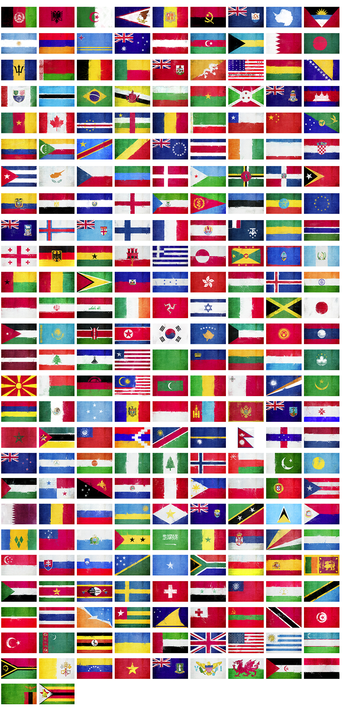 236 Grunge Flags example image 4