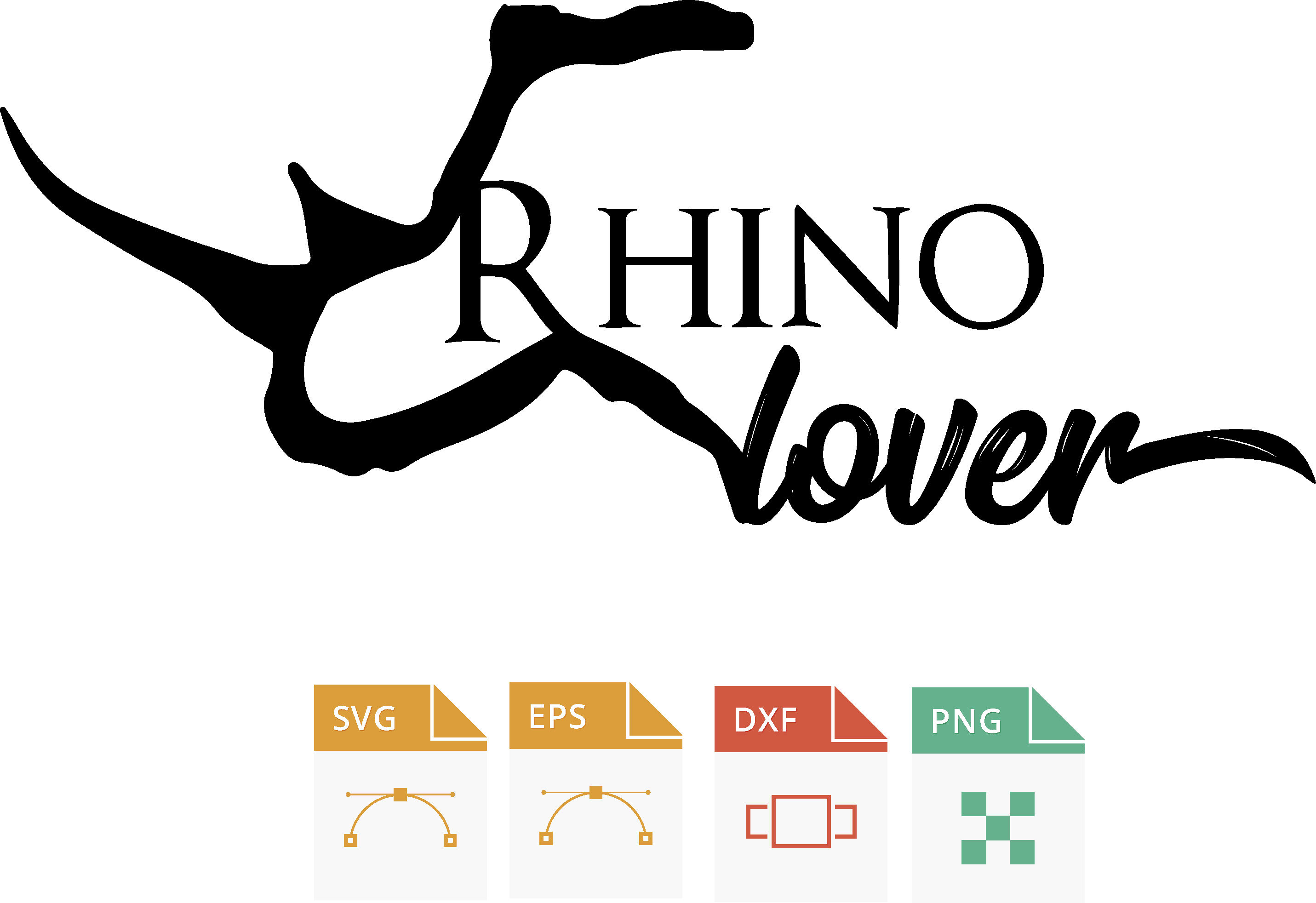 Rhinoceros, Rhino lover svg, Rhinoceros, rinoceronte, amante a los rinocerontes eps, cutting machine example image 2