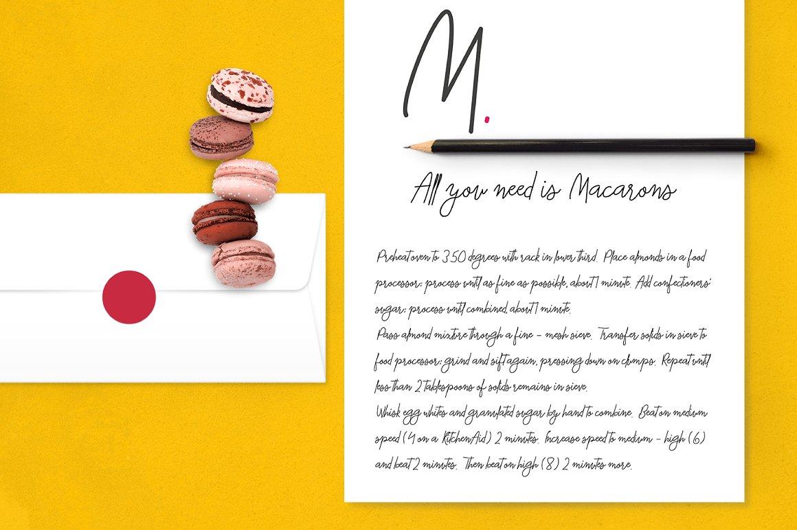 Macarons - Font and Extras / Cursive Font / Script Font / example image 9