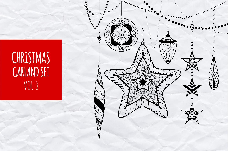 Christmas garland set vol.3 example image 1