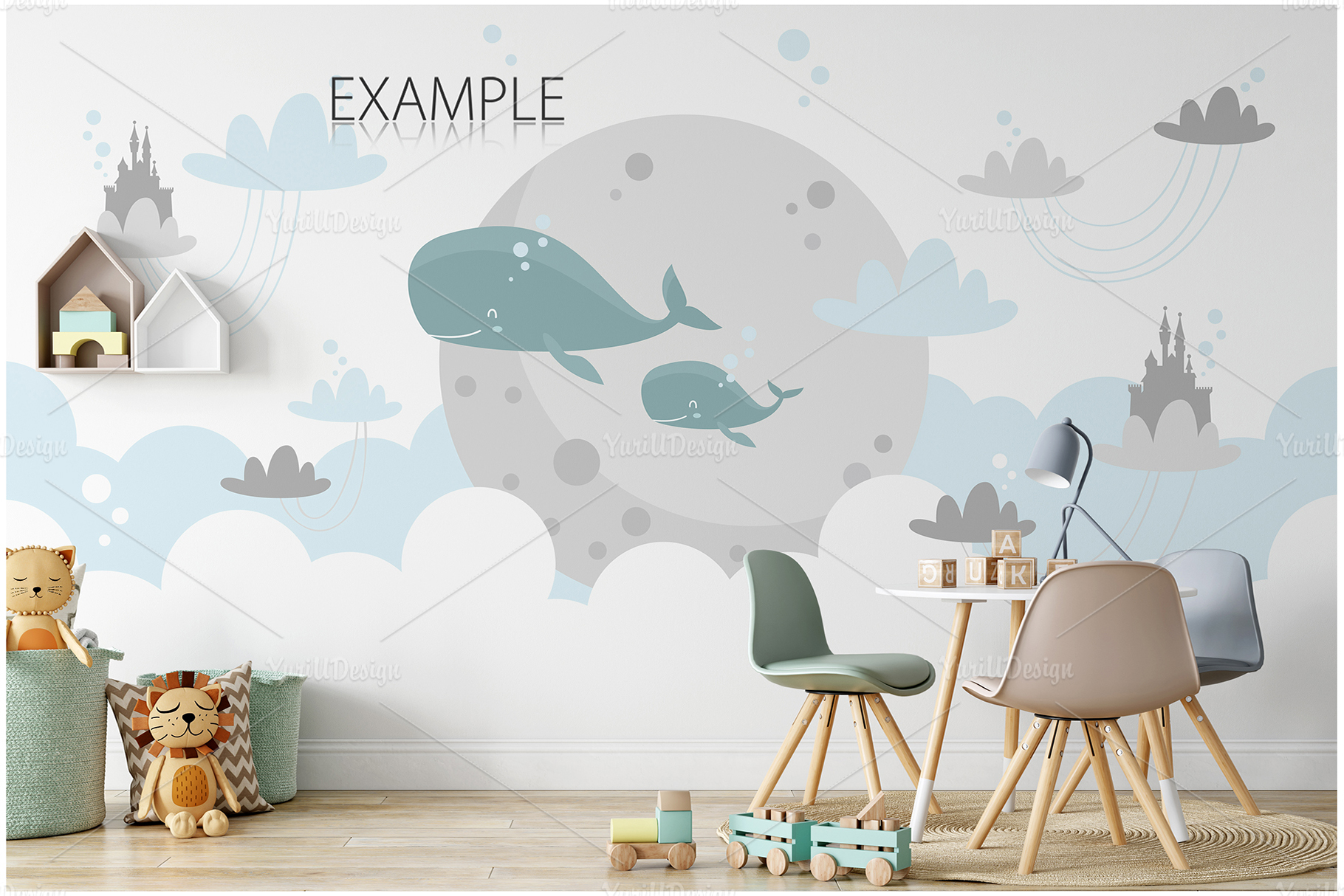 Kids Frames & Wall Mockup Bundle - 5 example image 4