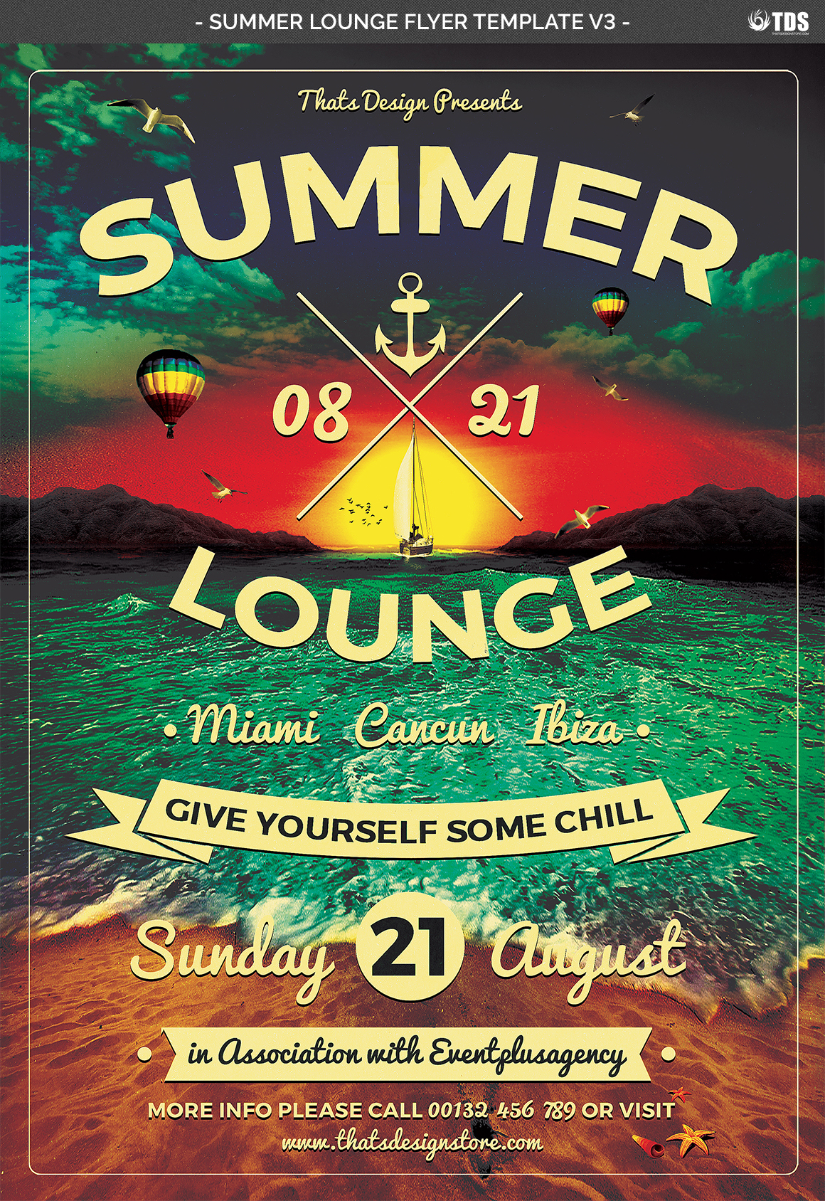 Summer Lounge Flyer Template V3 example image 4