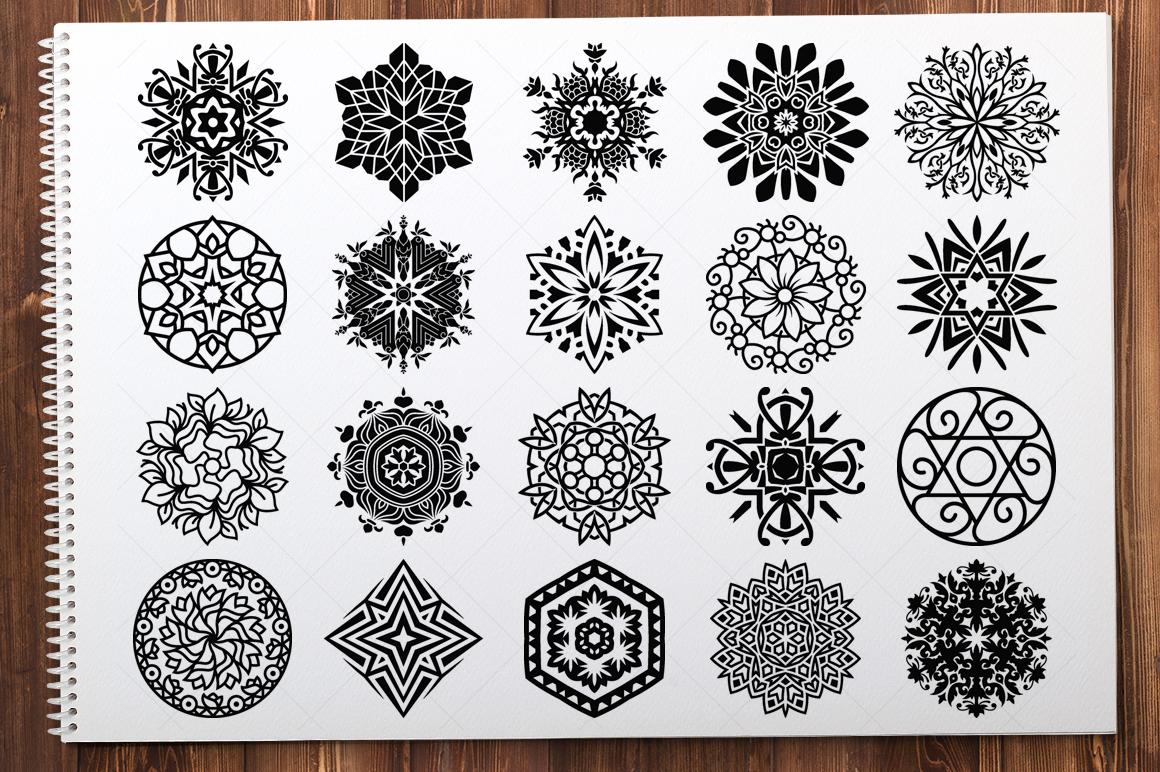 500 Vector Mandala Ornaments example image 9