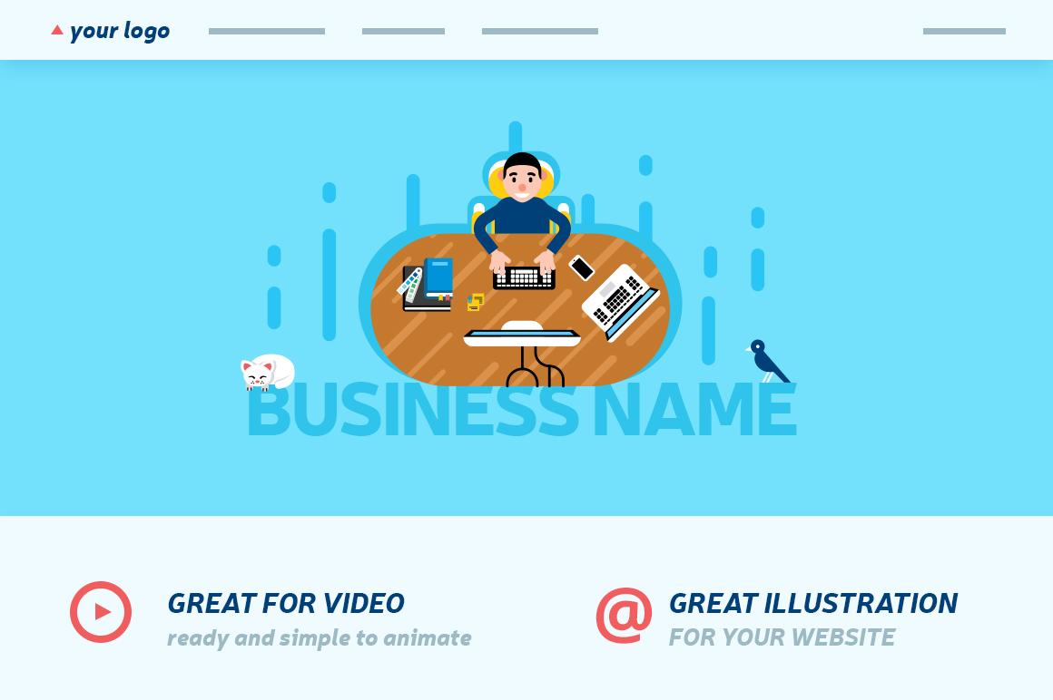 Office Workspace Scene Creator example image 3