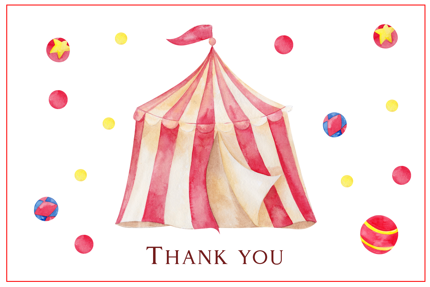 Circus. Watercolor clipart example image 9