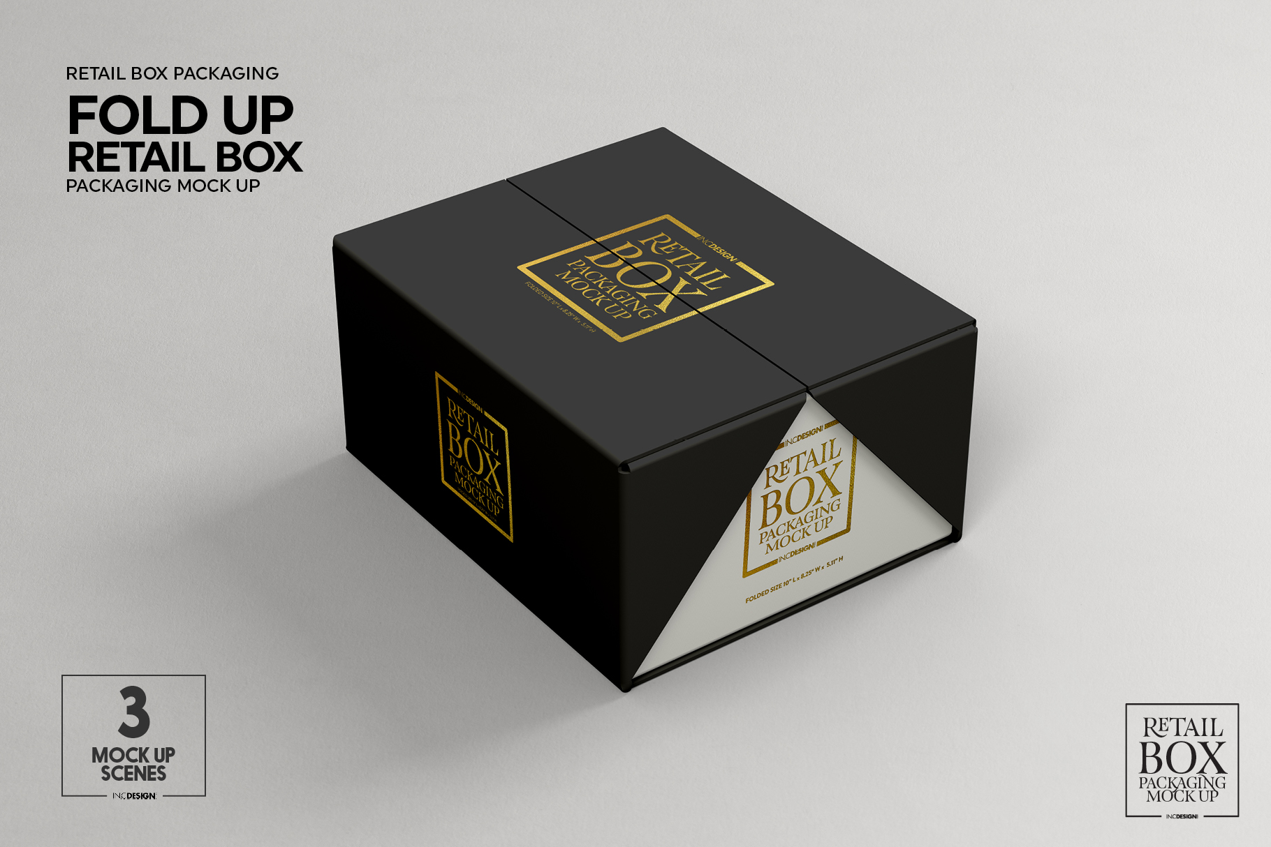 Fold Up Retail Box Packaging Mockup example image 2