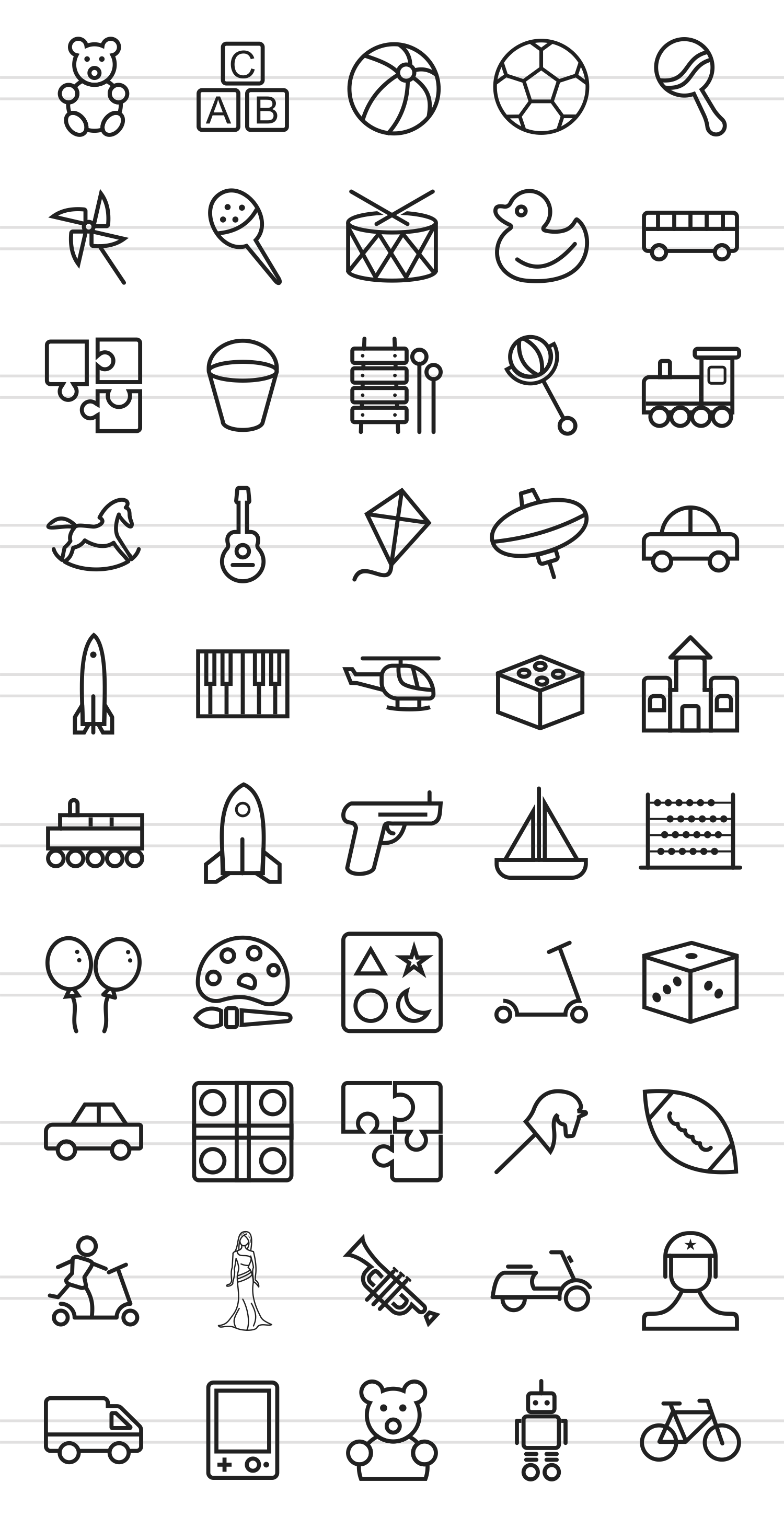 50 Toy Set Line Icons example image 2