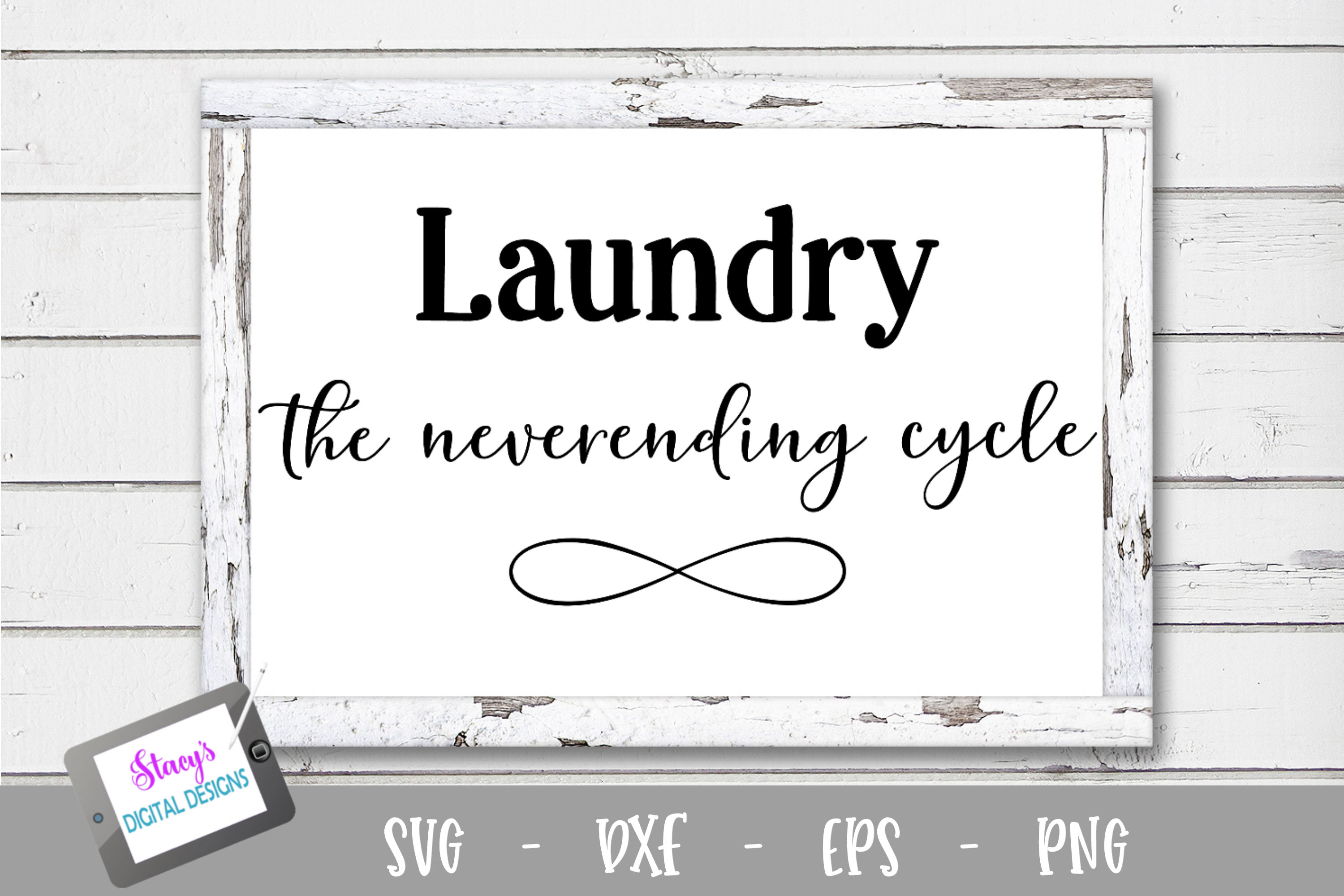 Laundry SVG Bundle - 6 Laundry room sign SVG files example image 2