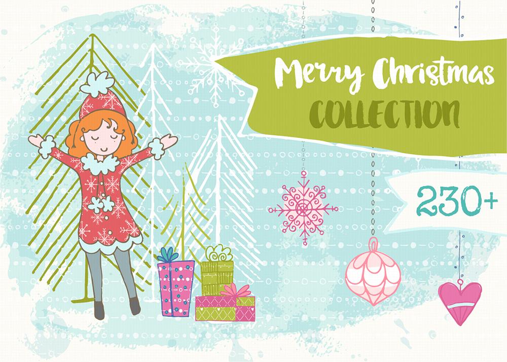 Christmas Hand Drawn Collection example image 1
