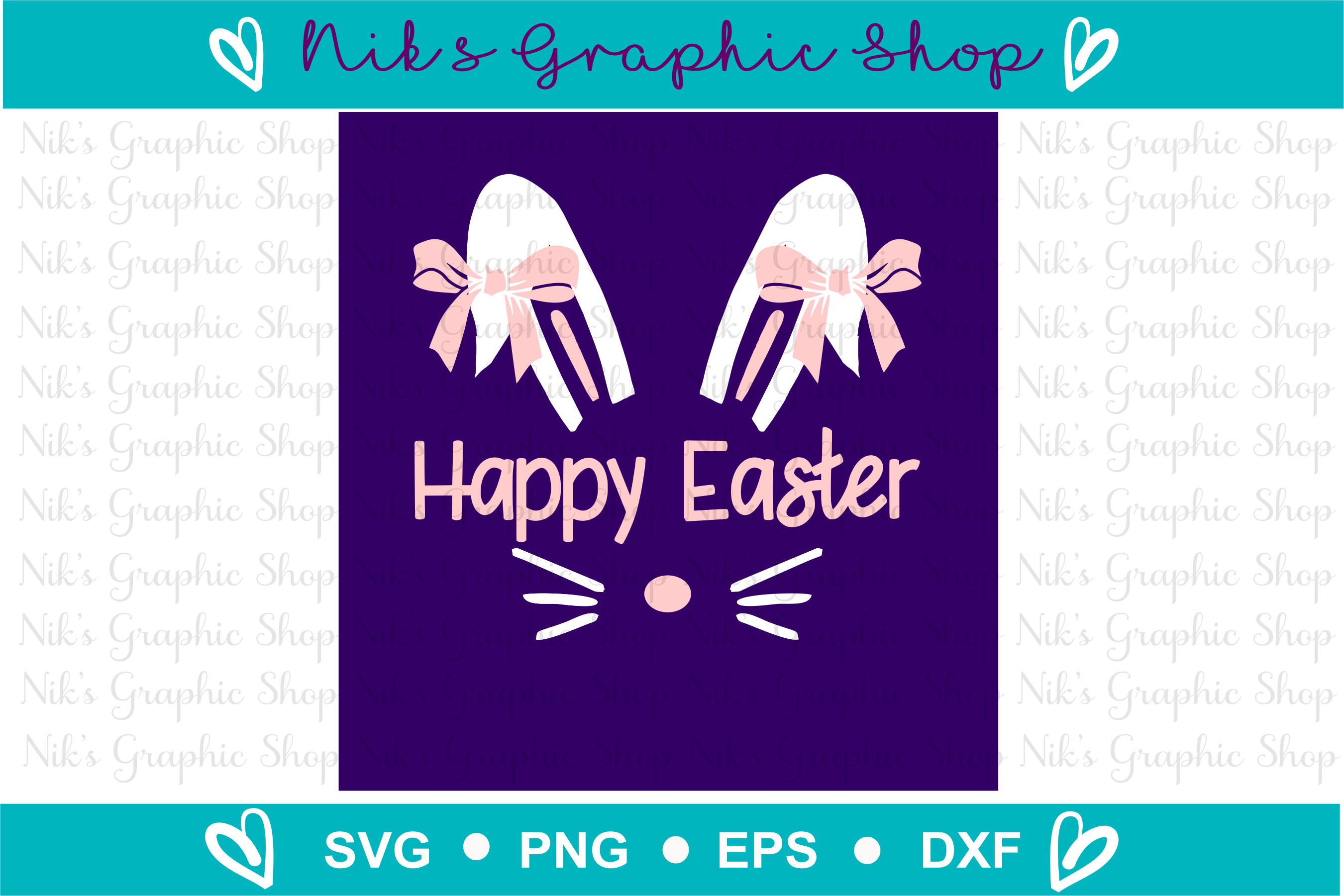Easter bunny svg, Easter Svg, Bunny Svg, Easter Graphic example image 2
