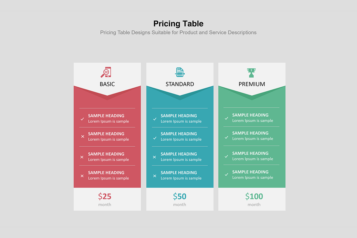 Price Table  Infographic Presentation example image 7