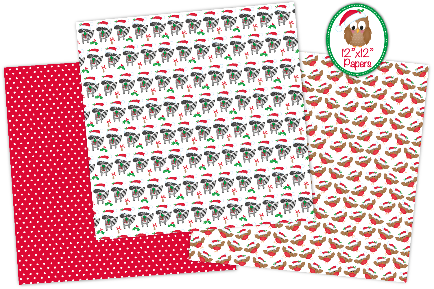 Christmas digital papers, Christmas patterns example image 4