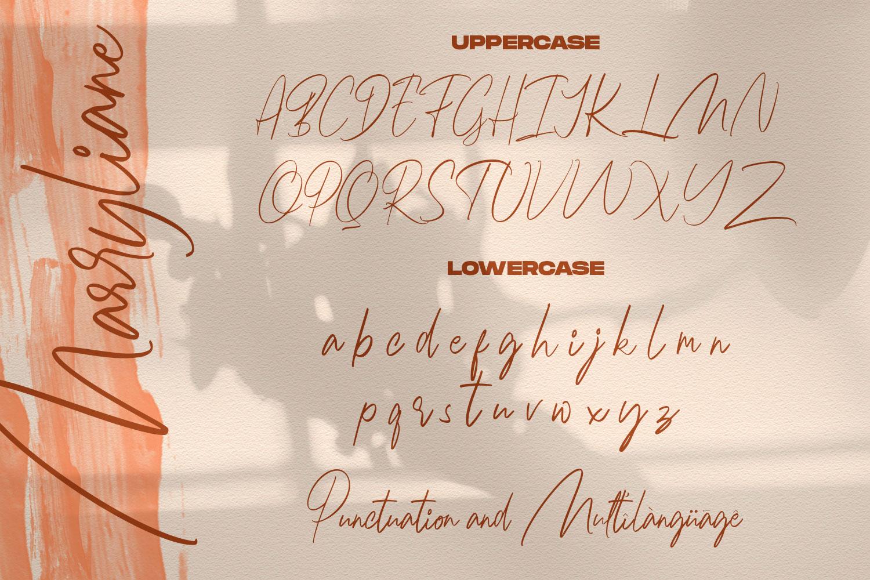 Marryliane Handwriting Font example image 8