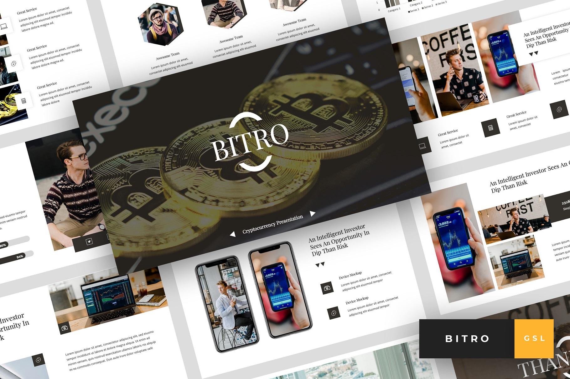 Bitro - Criptocurrency Google Slides Template example image 1