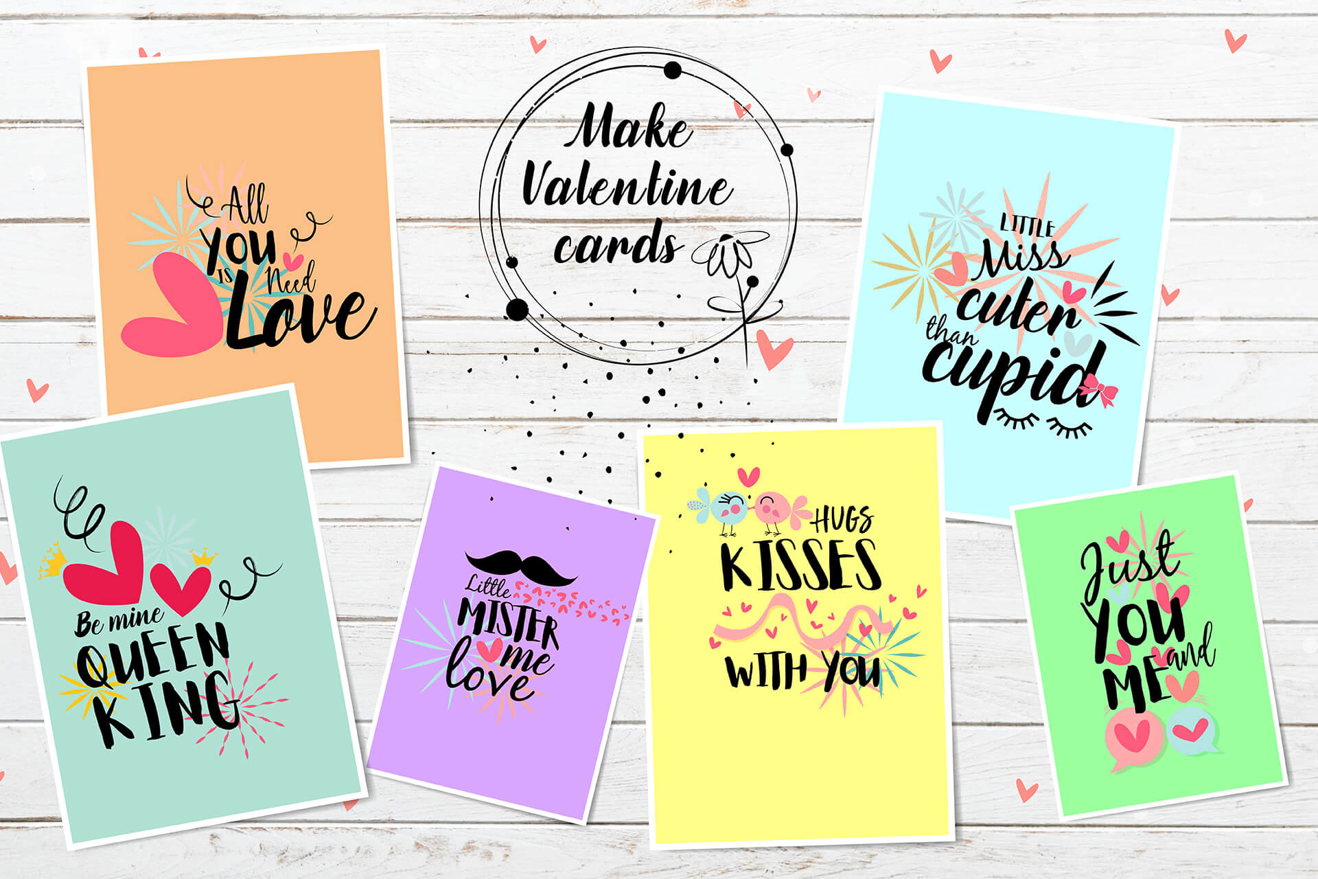 Hand drawn Valentine SVG Design Bundle example image 3