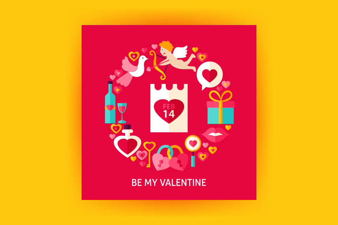 Valentines Day Vector Posters example image 3