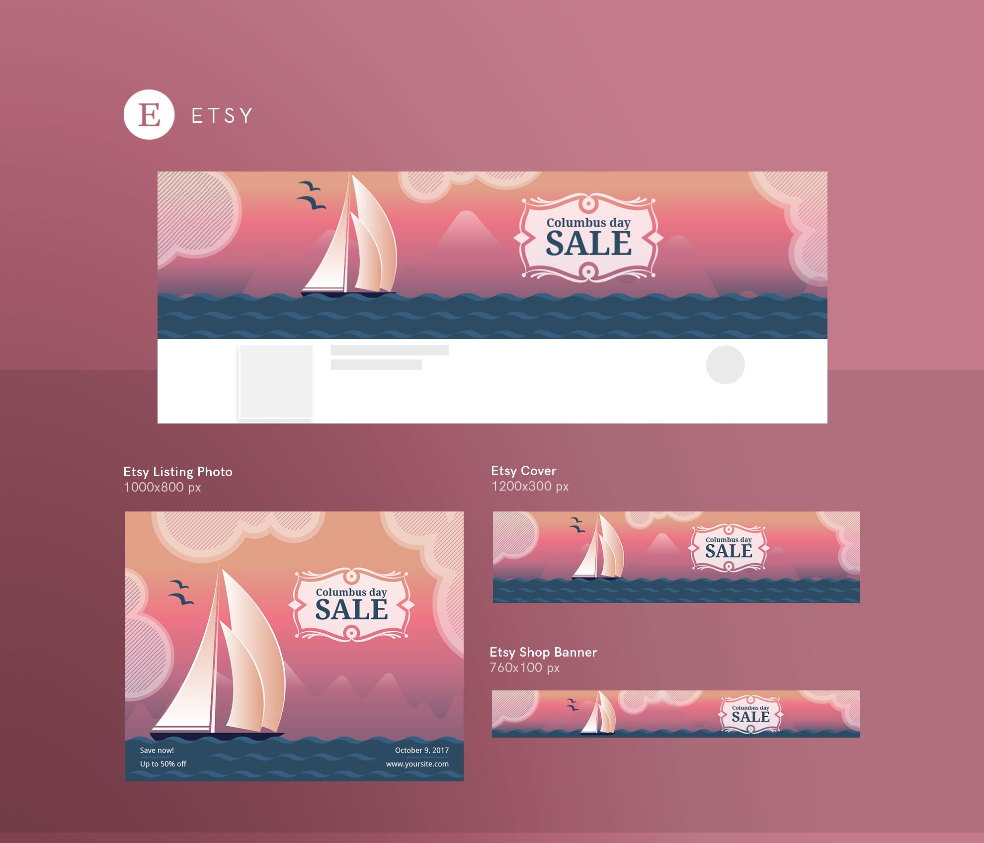 Columbus Day Sale Design Templates Bundle example image 14