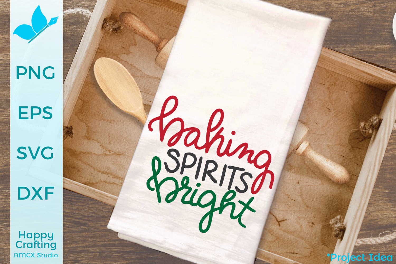 Baking Spirits Bright- A Kitchen Tea Towel SVG file example image 1