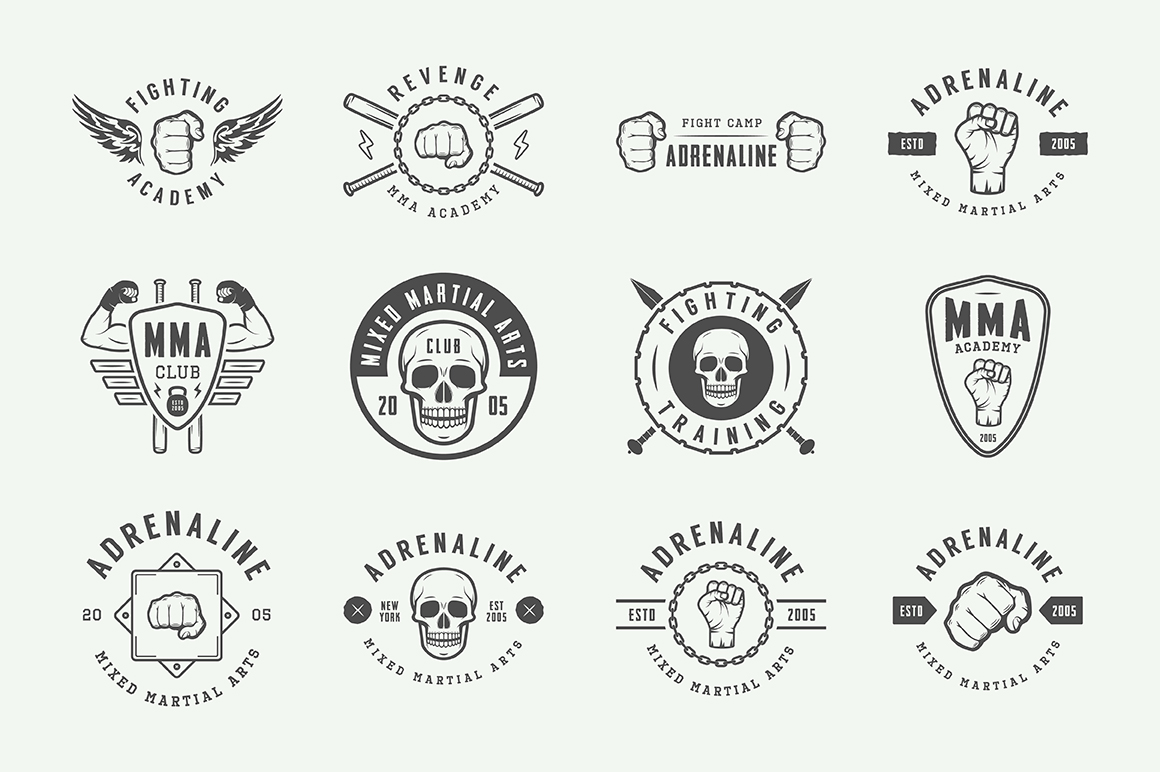 Vintage Fighting Emblems Bundle example image 7