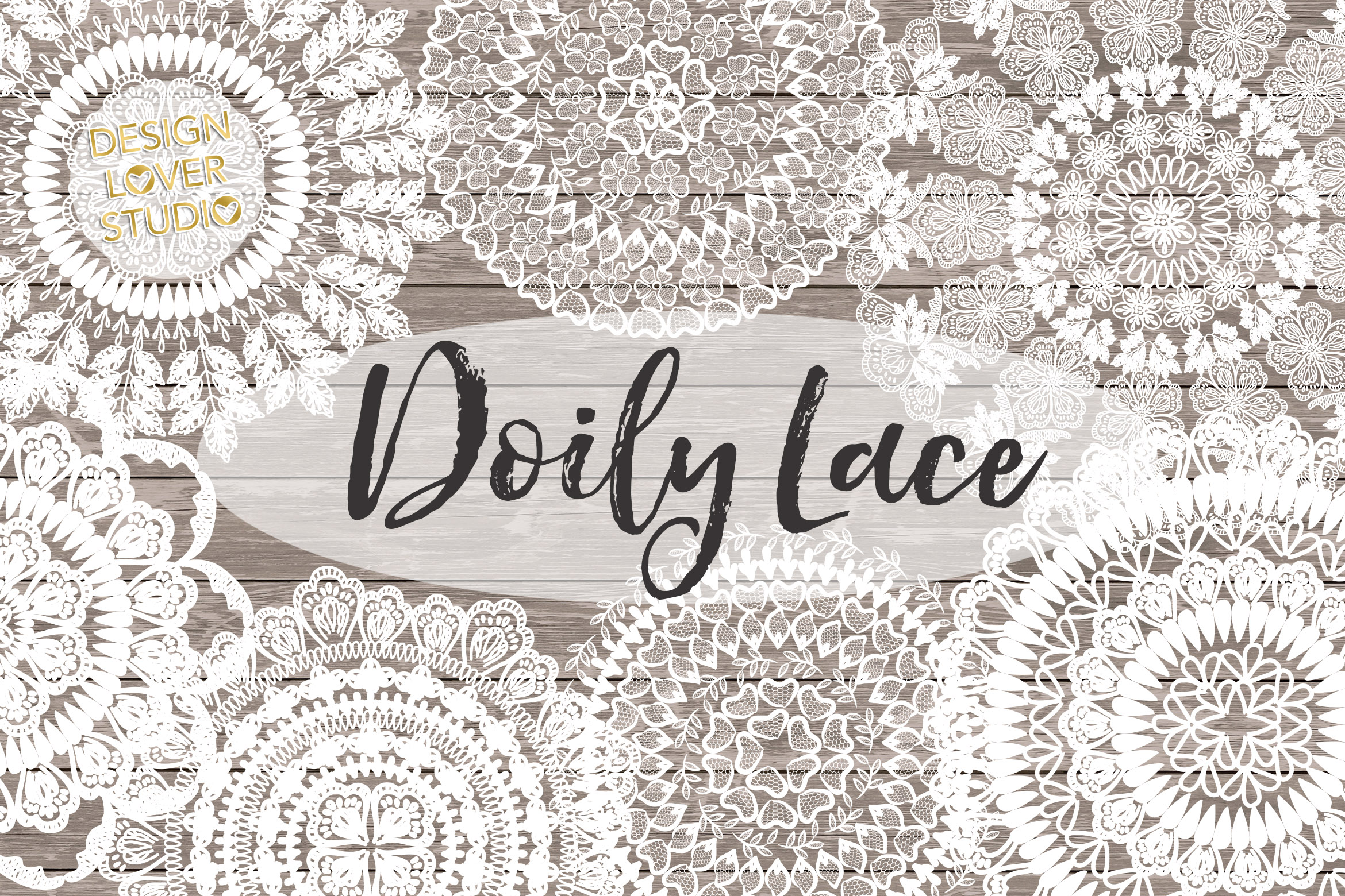 Vector Rustic Doily lace example image 1