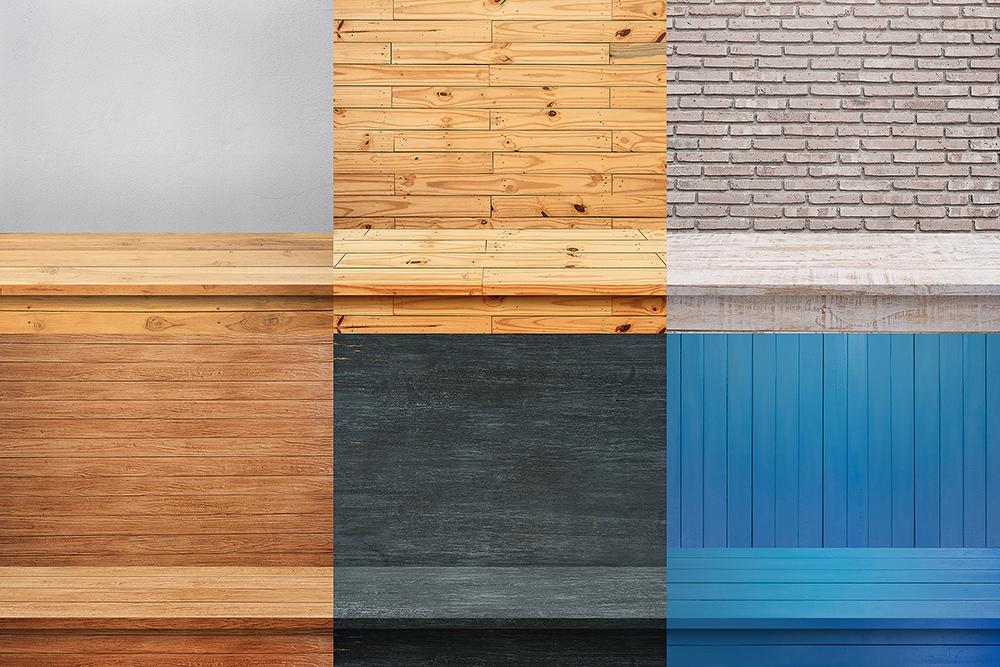 100 Realistic Shelves on Wall. Set 1 example image 8