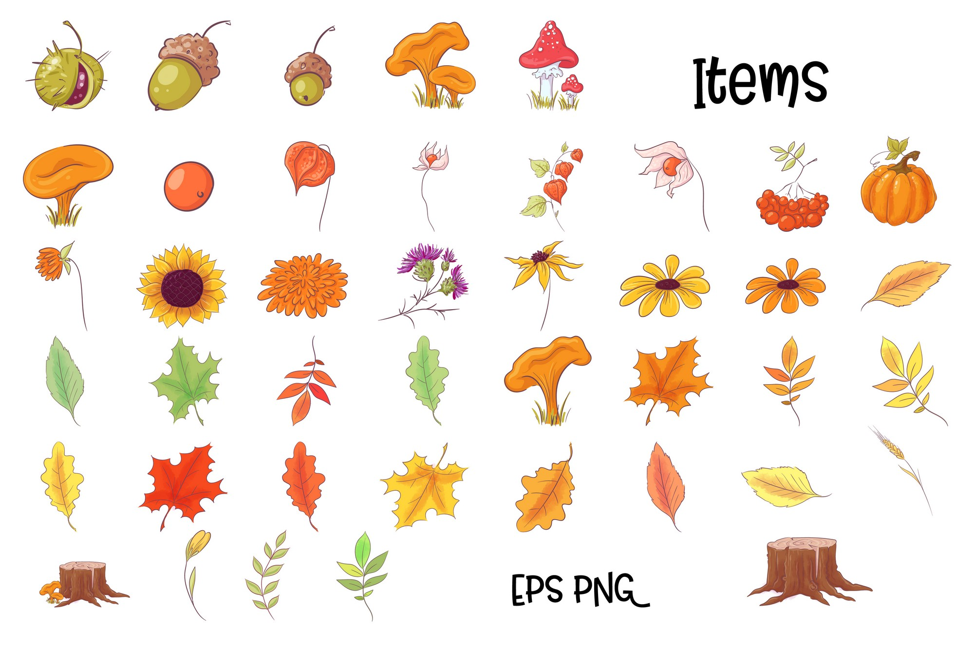 Autumn forest vector clip art example image 4