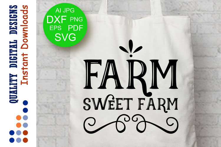 Farm sweet farm svg Cut file Farmer Svg example image 1