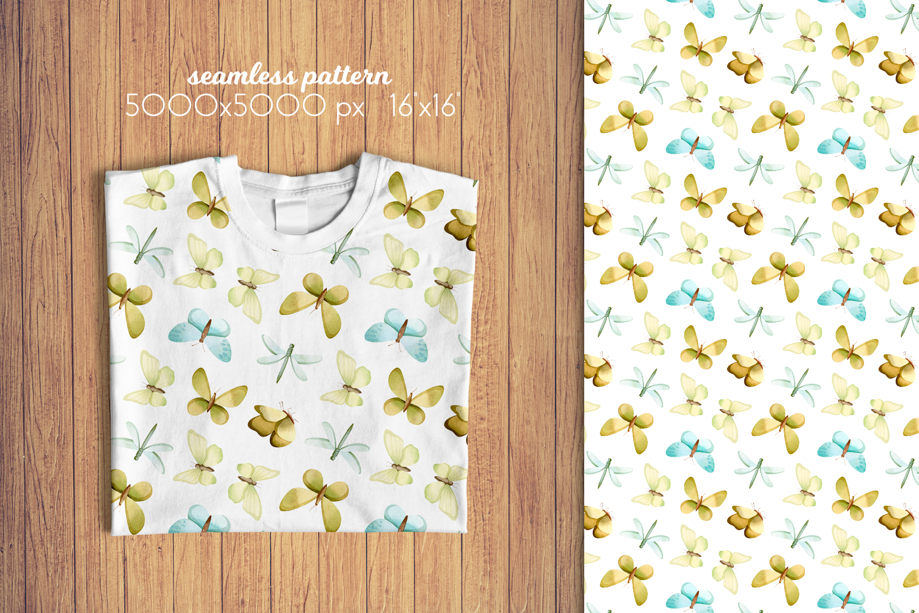 Butterflies and Dragonflies Patterns Collection example image 8