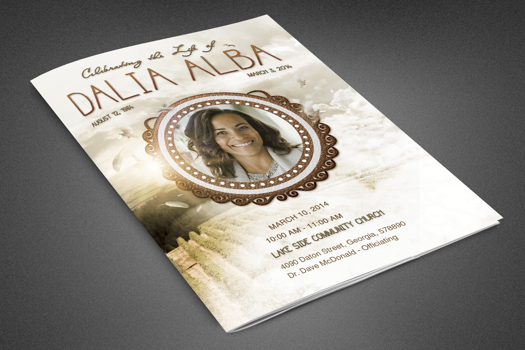Heavens Gateway Funeral Program example image 1