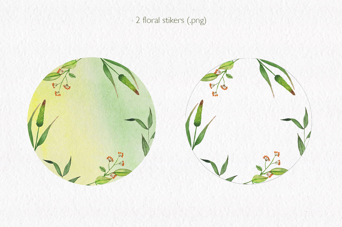 Summer florals. Watercolor floral collection. example image 5