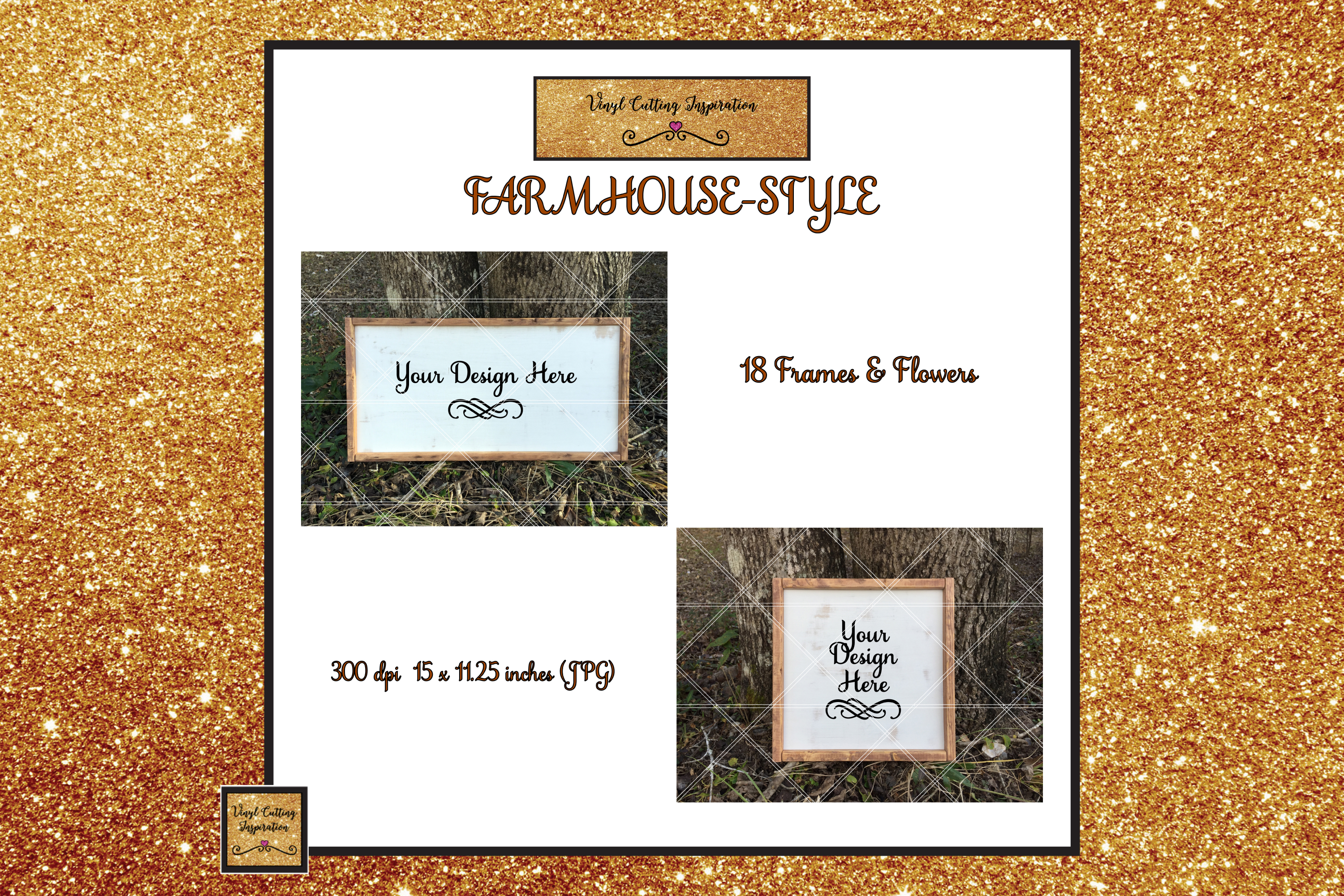 Wood Sign Mock ups Farmhouse Bundle Wood Frame Mockups JPG example image 2
