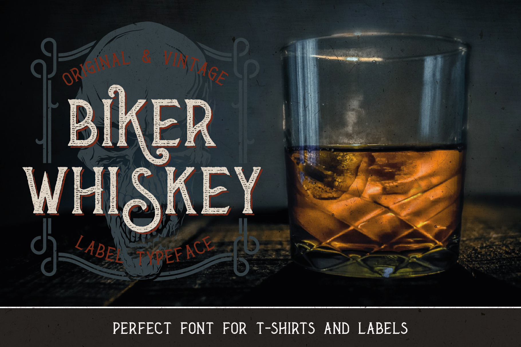 Biker Whiskey Layered Font example image 4