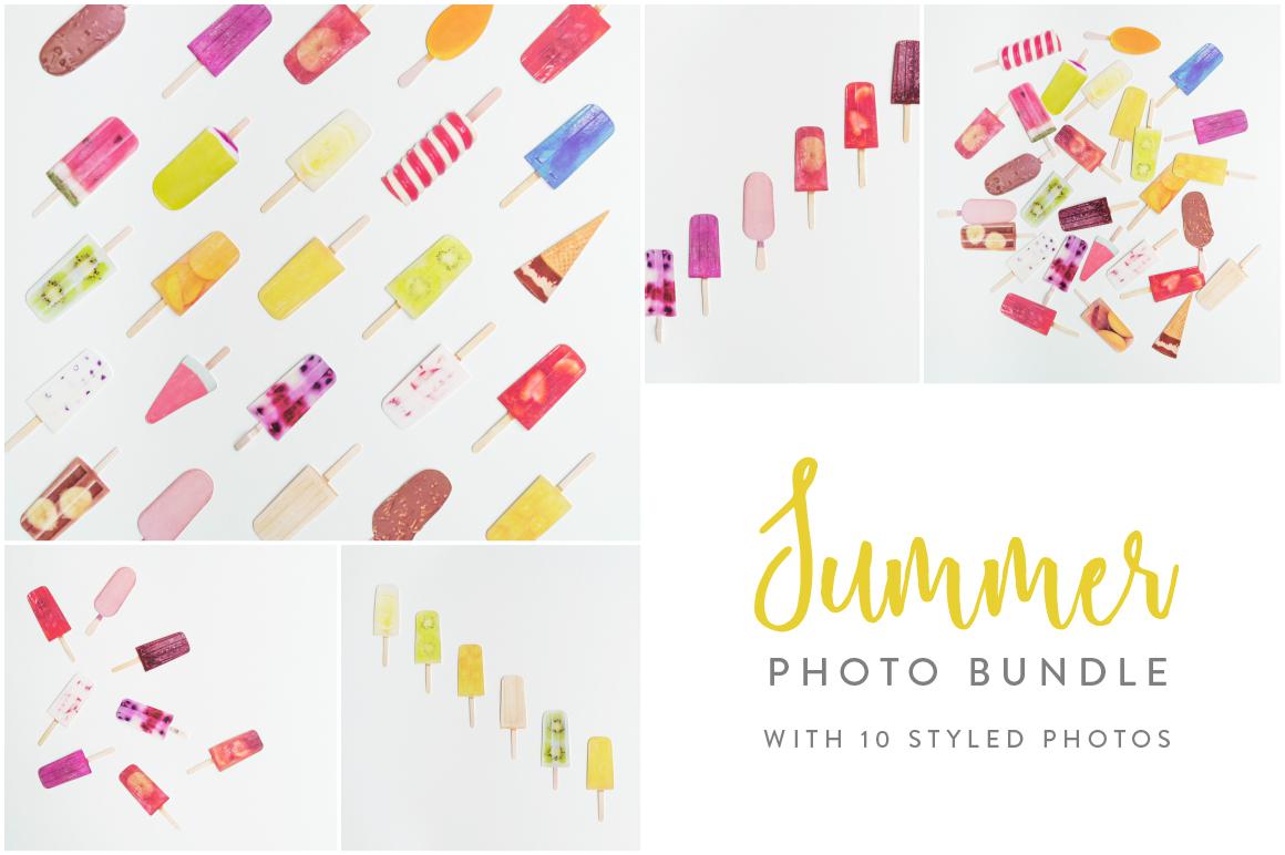 Summer Photo Bundle - Ice Lollies example image 1