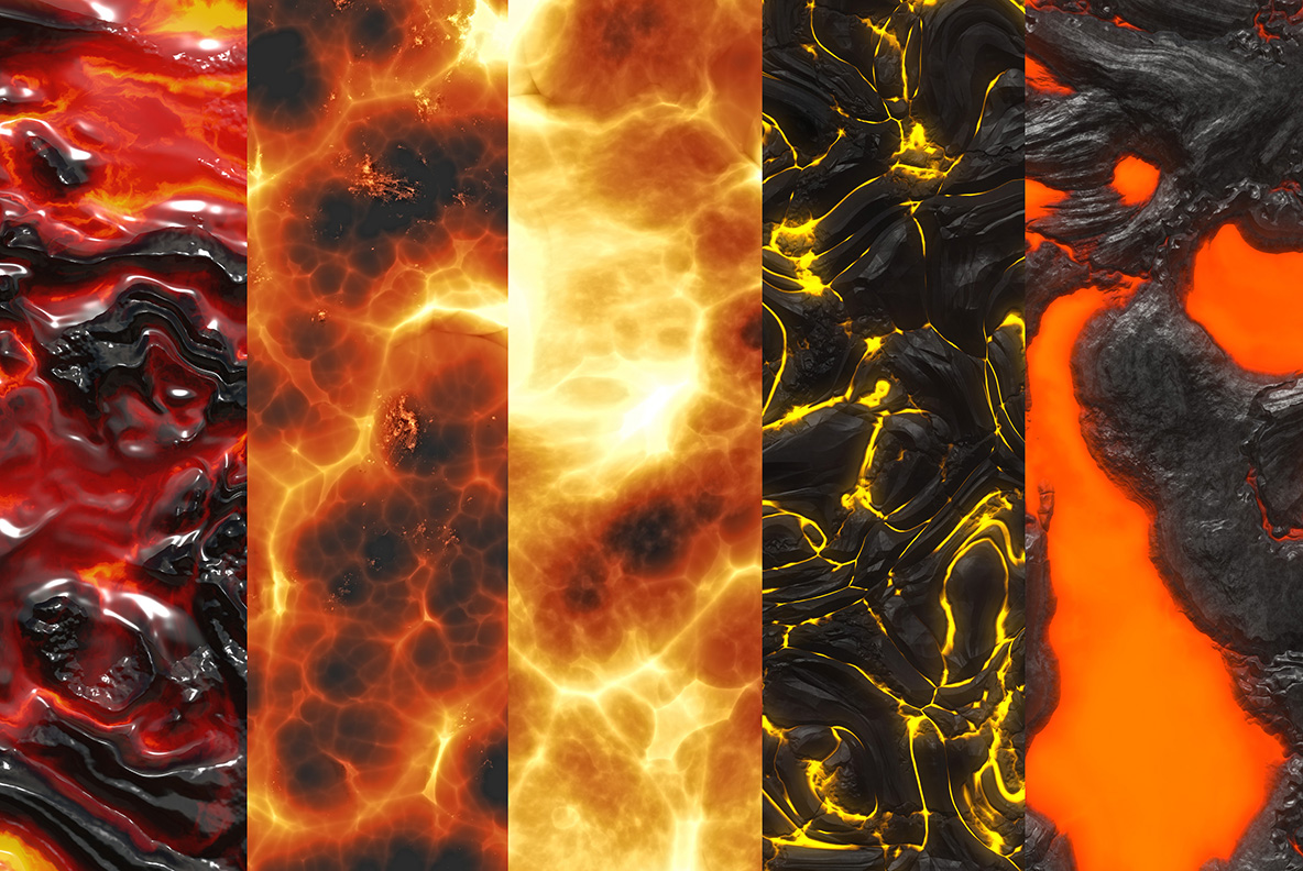 Fire and lava textures example image 3