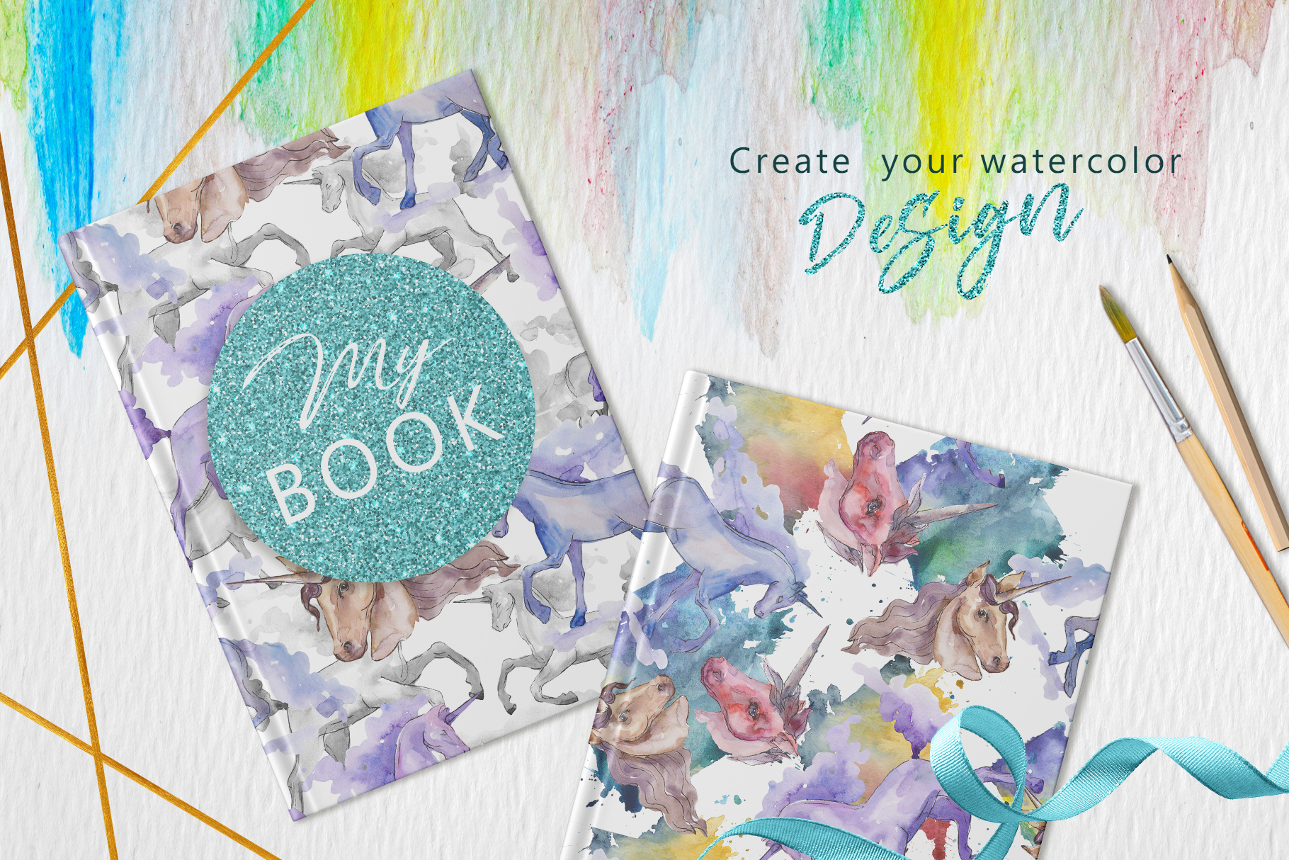 Unicorn Masterpiece Watercolor png example image 6