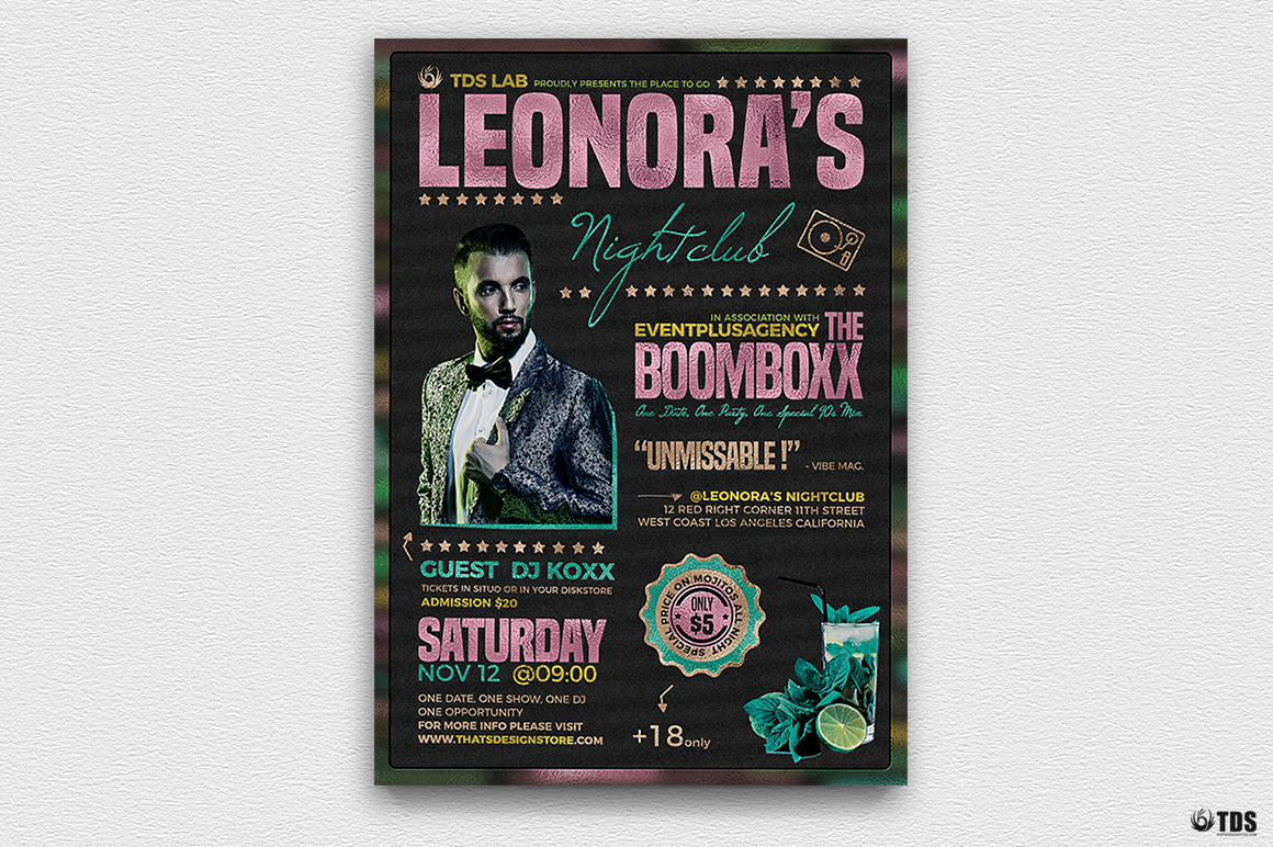 Nightclub Promotion Flyer Template example image 2