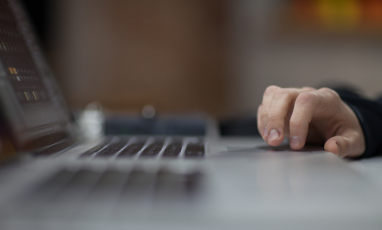 Man working on the laptop example image 1