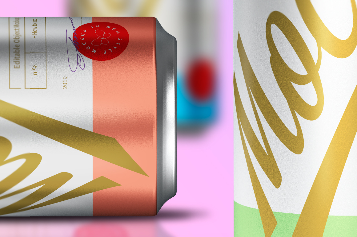 330ml Aluminum Can Poster Mockup example image 3