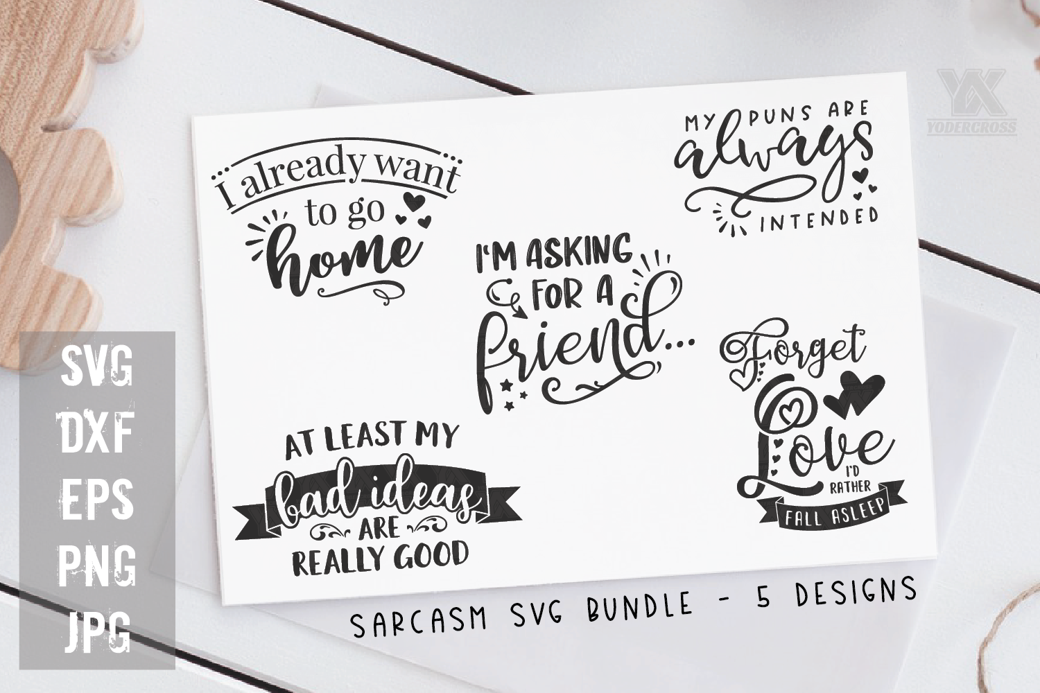 Funny Quotes SVG Bundle example image 1