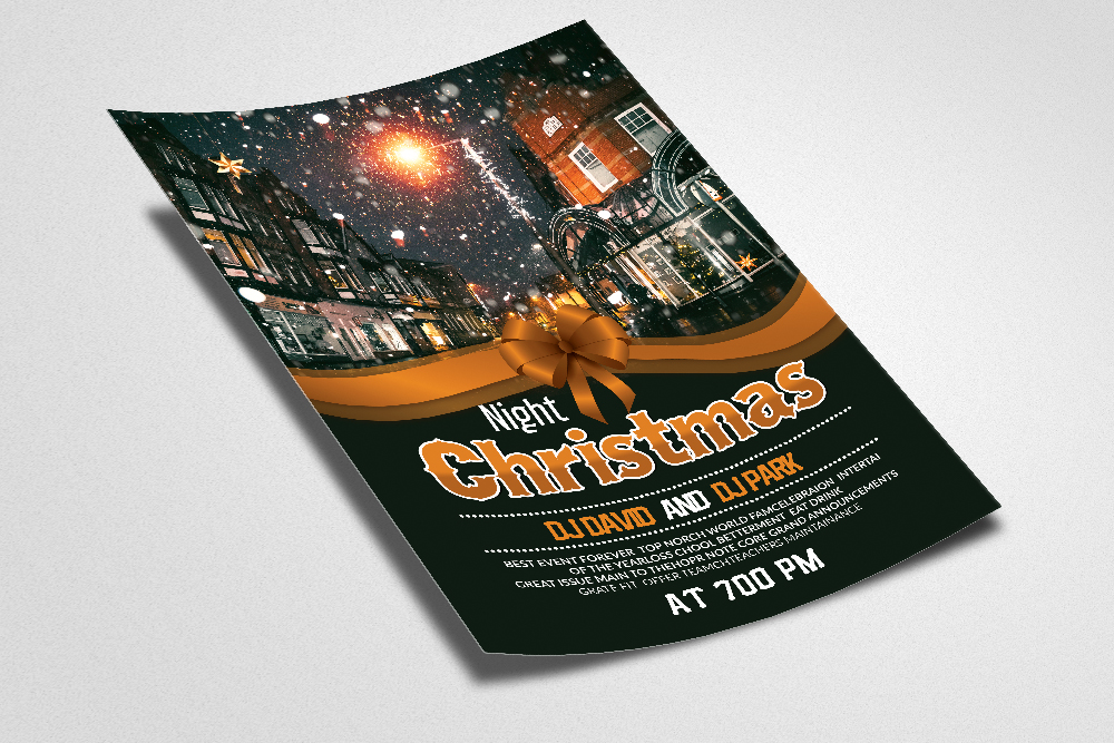 Christmas Party Night Flyer Template example image 2
